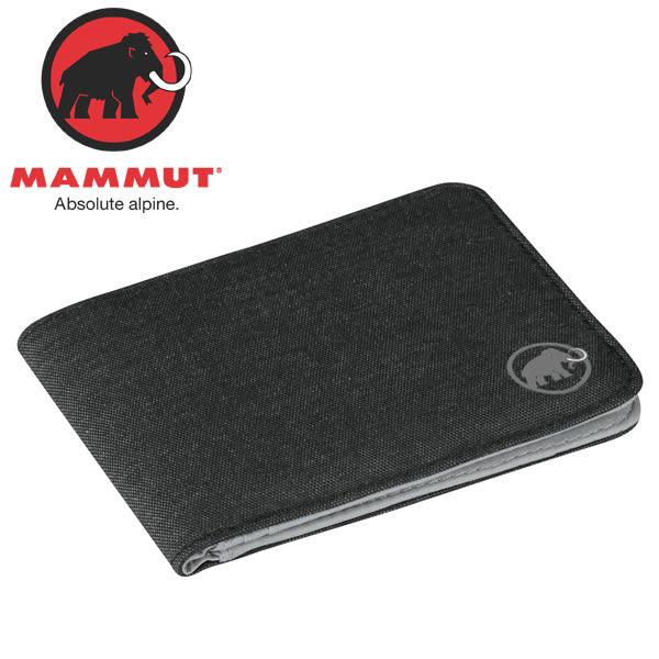 Mammut長毛象 2520-00710-0001黑 多功能雙折短夾/錢包/皮夾/鈔票夾