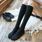 3雙裝堆堆襪女韓國學院風日系顯瘦不過膝小腿襪及膝襪長筒襪子