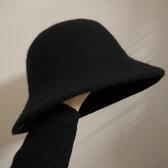 針織漁夫帽加厚羊毛呢盆帽女秋冬漁夫帽韓版英倫禮帽圓頂日系帽子百搭針織帽 新品