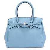 SAVE MY BAG Miss系列簡約輕量防水托特包(灰霧藍)280001-4