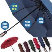 素色自動傘 雨傘 大傘面 抗強風 防風傘 摺疊傘 折疊傘 陽傘 晴雨傘 雨衣【RS655】