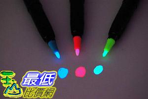 [8美國直購] 藍紅黃三色紫外線筆 (需用紫外線光才可視) Set of 3 Invisible UV Blacklight Ink Marker