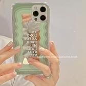 韓風ins公主魔鏡波浪邊適用iphone11pro max蘋果12手機殼iphonex硅膠 科炫數位