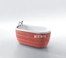 【麗室衛浴】BATHTUB WORLD  紅色繽紛馬賽克造形獨立缸  YG3301M2  130/140/150*75*H66CM