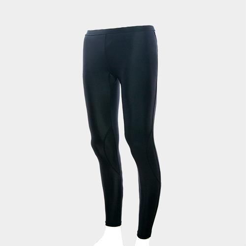 MOVIN  運動彈力長褲  黑黑  MA31209B  機能壓力運動長褲----女
