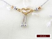585K(14K)金 義大利進口 (三色) 白K金 玫瑰金 黃K金  秀氣 輕甜 小甜心 日系輕珠寶 套鍊 項鍊