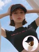 假髮帽帽子假發一體鴨舌帽直發春夏短發棒球帽波波頭網紅鎖骨發全頭套式