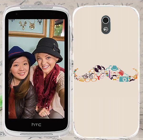♥ 俏魔女美人館 ♥ {花胡*水晶硬殼} HTC Desire 526G+手機殼 手機套 保護套