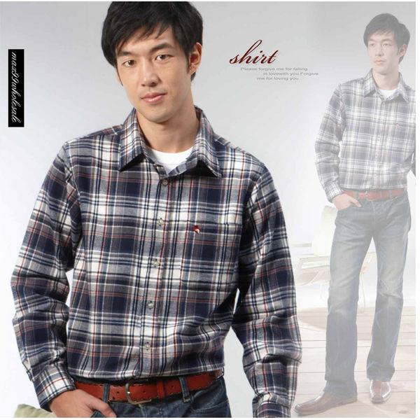 【大盤大】(S12798) 男 純棉襯衫 厚 格紋長袖襯衫 休閒衫 正常版 抗焰 抗靜電 有加大尺碼 大碼