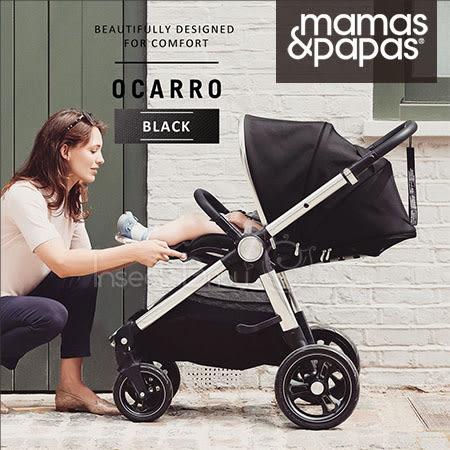 ✿蟲寶寶✿【英國mamas&papas】新生兒可平躺/快收/雙向/好推培林輪 嬰兒手推車 Ocarro 爵士黑