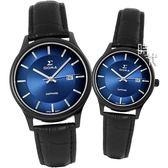 【台南 時代鐘錶 SIGMA】簡約時尚 藍寶石鏡面情人對錶 1636M-B3 & 1636L-B3 藍面/黑 平價實惠