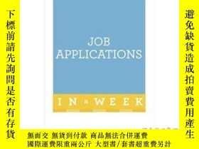 二手書博民逛書店Job罕見Applications in a Week-一周內申請工作Y465786 Hilton Catt