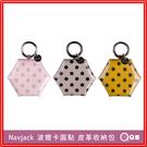 Navjack 波爾卡圓點皮革收納包 零錢包 鑰匙包 [L53] 皮革 收納包 小物收納 皮革包 耳機包 耳機收納