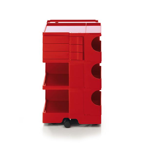 B-Line Boby Storage Trolly System Mod.M H73.5cm 巴比 多層式系統 收納推車 - 高尺寸 (三抽屜收納) 紅色款