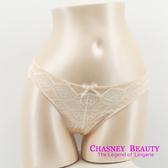 Chasney Beauty-菱形S-L蕾絲丁褲(淡粉橘)