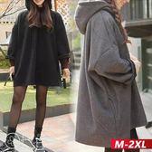 加絨長版寬鬆連帽外套 M-2XL O-ker歐珂兒 179060