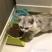 貓碗保護頸椎斜口貓碗貓糧碗貓食盆貓盆傾斜貓咪碗貓水盆貓咪用品HM 金曼麗莎