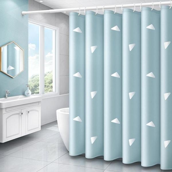 衛生間防水防霉洗澡浴簾布浴室掛簾簾子免打孔套裝門簾日本隔斷簾