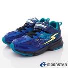 日本Moonstar機能童鞋 3E閃電競速運動鞋款 9645藍(中大童段)