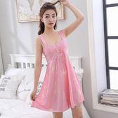 吊帶睡衣女夏季天性感長款可外穿可愛蕾絲綢寬鬆孕婦大尺碼睡裙 LH1607【3C環球數位館】
