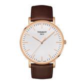[結帳再折] TISSOT 天梭 簡約時尚生活石英皮帶腕錶/42mm/T1096103603100