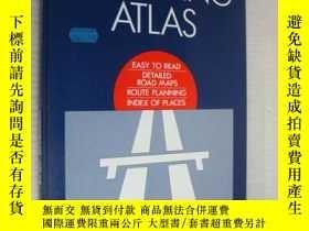 二手書博民逛書店MOTORING罕見ATLAS:easy to read det