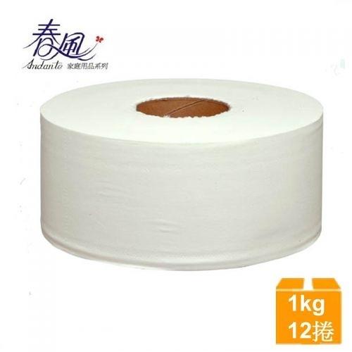 【南紡購物中心】春風 大捲筒衛生紙(1KGx3捲) 4袋/箱