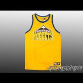 NBA 復古-大LOGO 球衣 金塊隊-黃色 網狀透氣材質 GEROGE 創信 # 8332801-017 ☆speedkobe☆