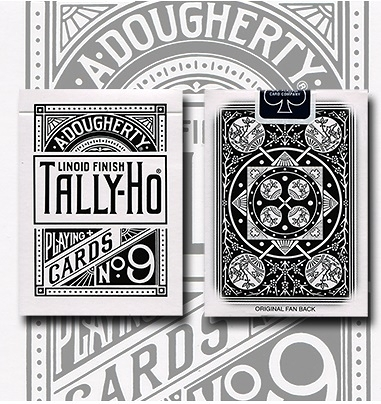 TALLY-HO WHITE ROSE 反白扇背 撲克牌