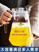 冷水壺玻璃水壺泡茶壺耐高溫涼白開水杯鴨嘴扎壺涼水壺