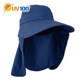 UV100 防曬 抗UV-多功能遮陽帽-透氣舒爽