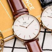 DW Daniel Wellington 瑞典簡約風格手錶 40mm/棕色/復古/0106DW/DW00100006