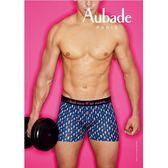 Aubade man-壞男人M-XL舒棉平口褲(閃電-藍)