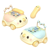 益智玩具 小雞音樂電話車 中英雙語學習玩具 -JoyBaby