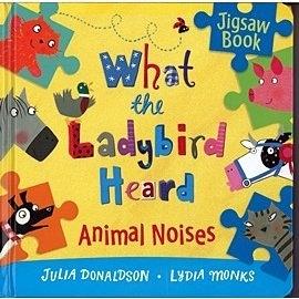 【幼兒拼圖書】WHAT THE LADYBIRD HEARD ANIMAL NOISES (聽故事.玩拼圖)