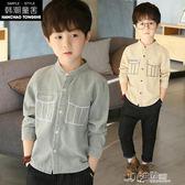 兒童裝男童襯衫中大童長袖打底衫上衣男孩襯衣潮 沸點奇跡