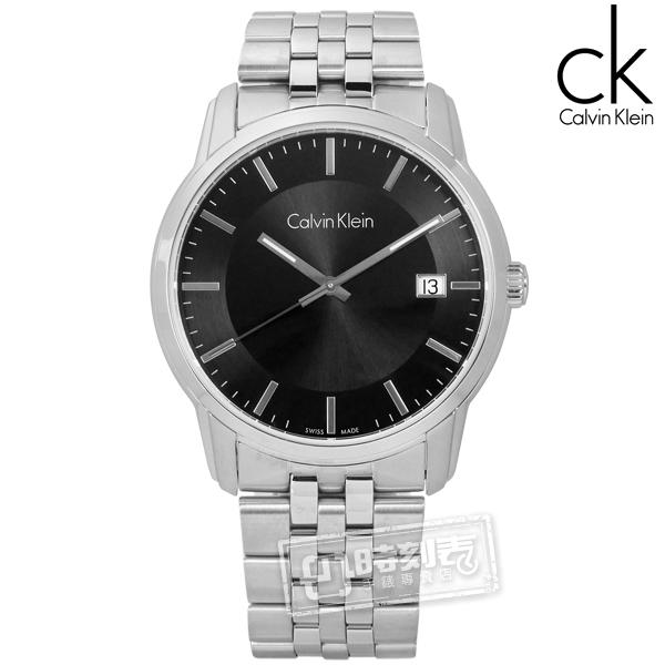 CK / K5S31141 / 典藏品味日期不鏽鋼手錶 黑色 41mm