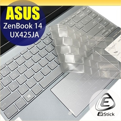【Ezstick】ASUS UX425 UX425JA 奈米銀抗菌TPU 鍵盤保護膜 鍵盤膜
