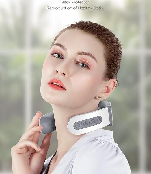 頸椎按摩器家用電動智慧護頸儀脖子按摩神器脊椎脈沖肩頸部按摩儀 【免運快出】