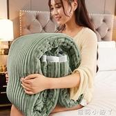 加厚三層毛毯被子羊羔絨雙層法蘭絨床單珊瑚絨冬季保暖小午睡毯子 NMS蘿莉新品