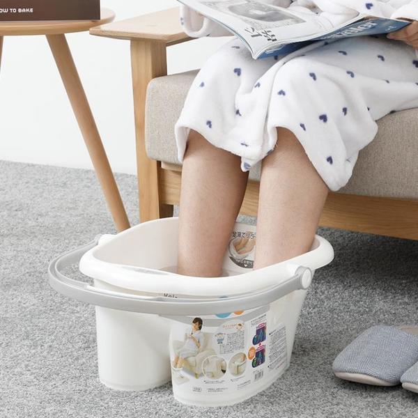 日本進口足浴桶足浴盆加高泡腳桶洗腳桶冬季家用洗腳盆塑料泡腳盆 「青木鋪子」