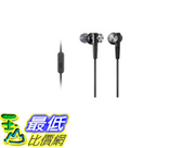 [105美國直購] Sony MDRXB50AP 有線耳機 Extra Bass Earbud Headset (Black)110 dB/mW 4 - 24,000 Hz