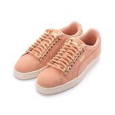 PUMA SUEDE CLASSIC X CHAIN 復古鎖鏈板鞋 粉橘 367352-01 女鞋