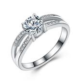 925純銀戒指 鑲鑽-精緻韓版生日情人節禮物女配件73an143【巴黎精品】