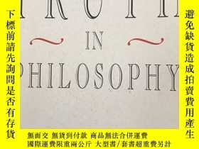 二手書博民逛書店Truth罕見in PhilosophyY230993 Allen Harvard 出版1993