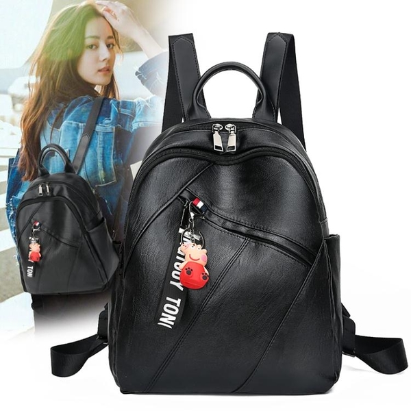 後背包 包包女後背包後背包女 新款潮流時尚韓版百搭背包女旅游行李包 韓菲兒