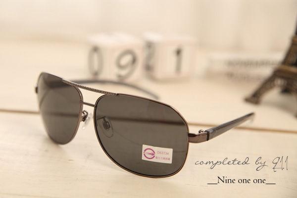復古雷朋框。寶麗萊偏光方形太陽眼鏡-UV400【os533】*911 SHOP*