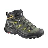[Salomon] (男) X ULTRA 3 GTX 中筒登山鞋 灰綠/黑/硫綠 (L40129500)