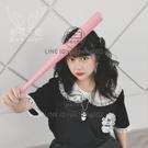 粉色實木棒球棍桿車載防身棒子cos道具小丑女【輕派工作室】