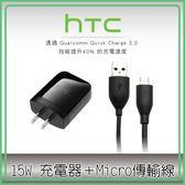 好舖・好物➸【現貨】HTC QC 快充組旅充頭 傳輸線 15W 9V 12V 充電器